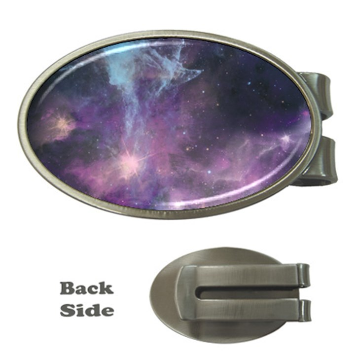 Blue Galaxy  Money Clips (Oval)