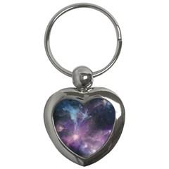 Blue Galaxy  Key Chains (heart)