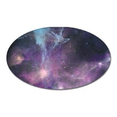 Blue Galaxy  Oval Magnet by DanaeStudio