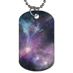 Blue Galaxy  Dog Tag (two Sides) by DanaeStudio