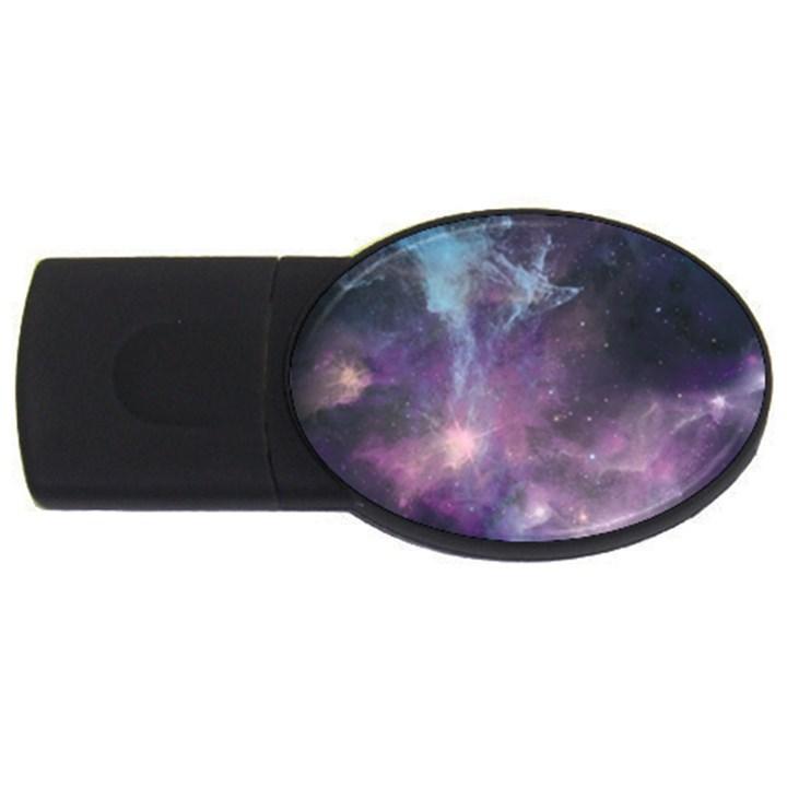 Blue Galaxy  USB Flash Drive Oval (2 GB)