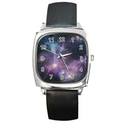 Blue Galaxy  Square Metal Watch by DanaeStudio