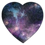 Blue Galaxy  Jigsaw Puzzle (Heart) Front
