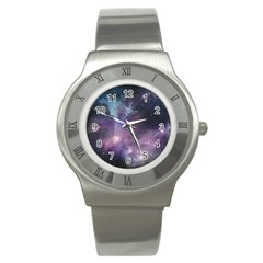 Blue Galaxy  Stainless Steel Watch by DanaeStudio