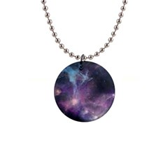 Blue Galaxy  Button Necklaces by DanaeStudio