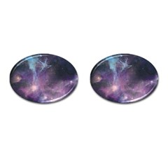 Blue Galaxy  Cufflinks (oval) by DanaeStudio