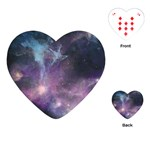 Blue Galaxy  Playing Cards (Heart)