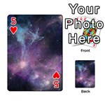 Blue Galaxy  Playing Cards 54 Designs  Front - Heart5