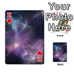 Blue Galaxy  Playing Cards 54 Designs  Front - HeartK