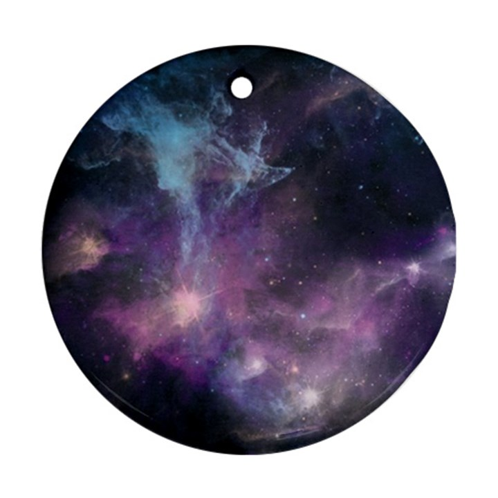 Blue Galaxy  Round Ornament (Two Sides)