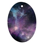 Blue Galaxy  Oval Ornament (Two Sides) Back