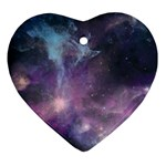 Blue Galaxy  Heart Ornament (2 Sides) Back