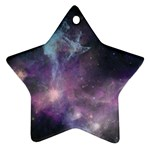 Blue Galaxy  Star Ornament (Two Sides)  Front