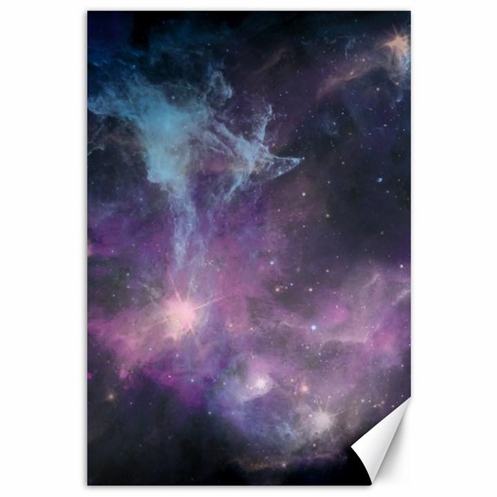 Blue Galaxy  Canvas 12  x 18