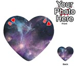 Blue Galaxy  Playing Cards 54 (Heart)  Front - Heart8