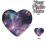Blue Galaxy  Playing Cards 54 (Heart)  Front - Diamond2