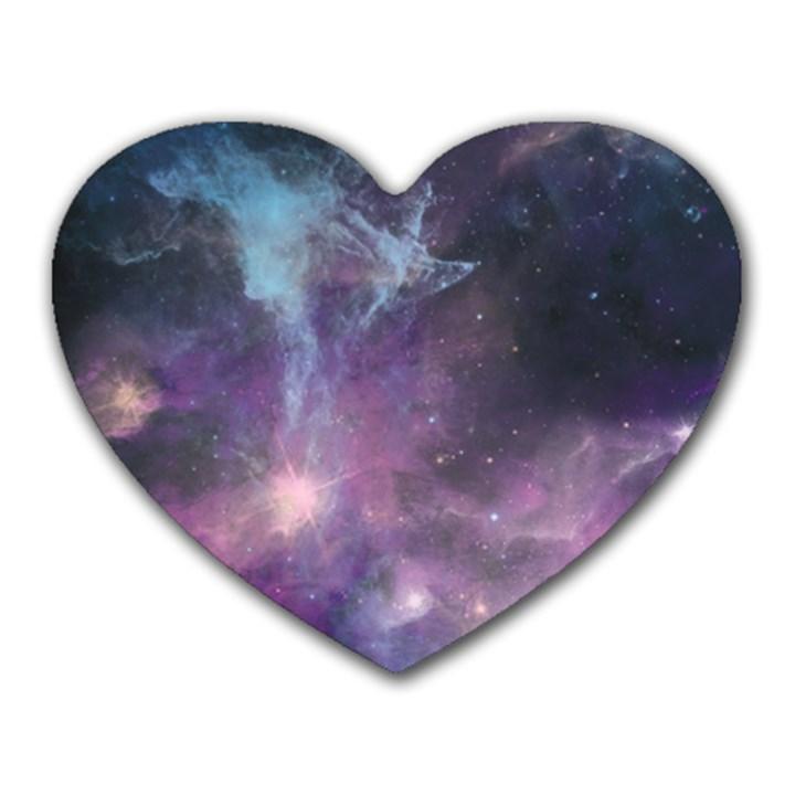 Blue Galaxy  Heart Mousepads