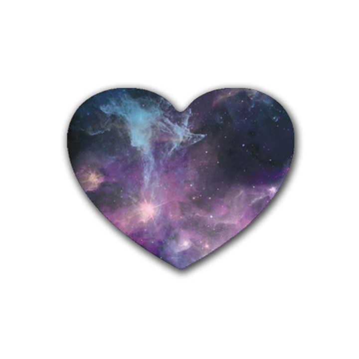 Blue Galaxy  Heart Coaster (4 pack)