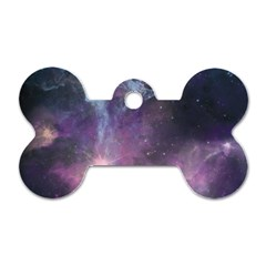 Blue Galaxy  Dog Tag Bone (one Side) by DanaeStudio