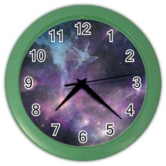 Blue Galaxy  Color Wall Clocks by DanaeStudio