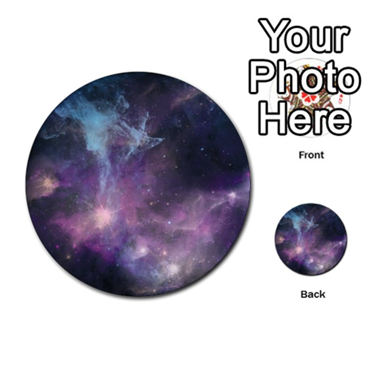 Blue Galaxy  Multi-purpose Cards (Round)