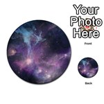 Blue Galaxy  Multi-purpose Cards (Round)  Back 33