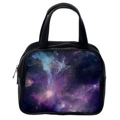 Blue Galaxy  Classic Handbags (one Side) by DanaeStudio