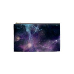 Blue Galaxy  Cosmetic Bag (small)  by DanaeStudio