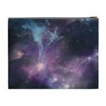 Blue Galaxy  Cosmetic Bag (XL) Back