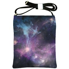 Blue Galaxy  Shoulder Sling Bags by DanaeStudio