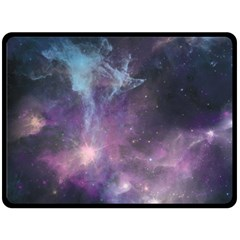 Blue Galaxy  Fleece Blanket (large)  by DanaeStudio