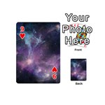 Blue Galaxy  Playing Cards 54 (Mini)  Front - Heart9