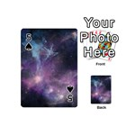 Blue Galaxy  Playing Cards 54 (Mini)  Front - Spade5