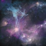 Blue Galaxy  Storage Stool 12   Front