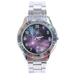 Blue Galaxy  Stainless Steel Analogue Watch