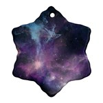 Blue Galaxy  Ornament (Snowflake)  Front