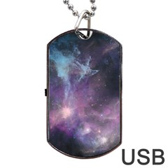 Blue Galaxy  Dog Tag Usb Flash (one Side)
