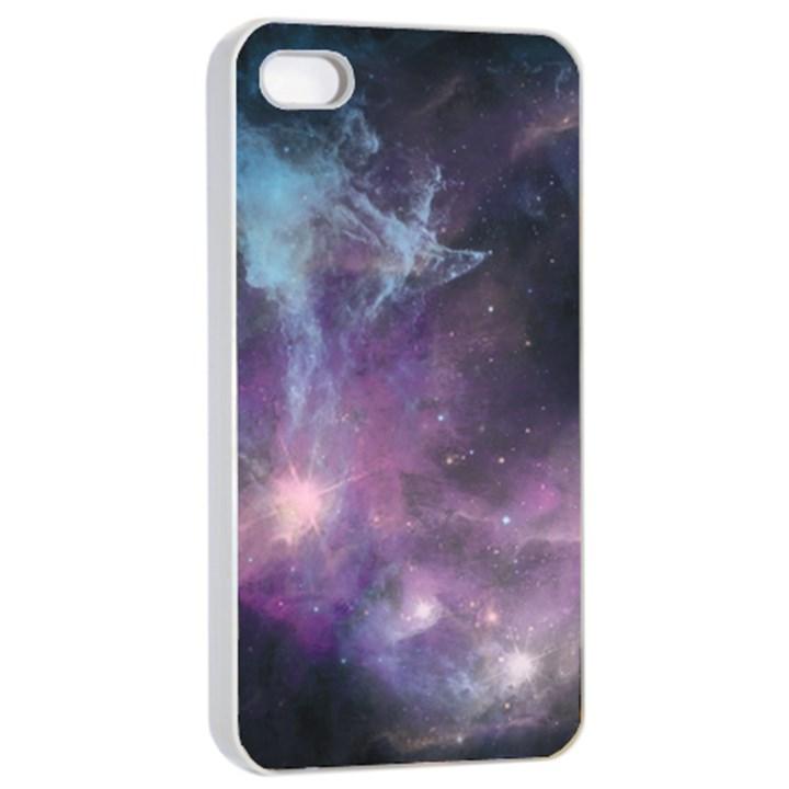 Blue Galaxy  Apple iPhone 4/4s Seamless Case (White)