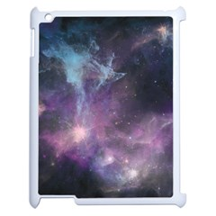 Blue Galaxy  Apple Ipad 2 Case (white) by DanaeStudio