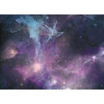 Blue Galaxy  Peace Sign 3D Greeting Card (7x5) Back