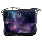Blue Galaxy  Messenger Bags Front