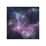 Blue Galaxy  Acrylic Tangram Puzzle (4  x 4 ) Front