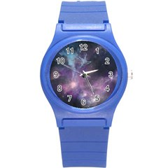 Blue Galaxy  Round Plastic Sport Watch (s) by DanaeStudio