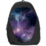 Blue Galaxy  Backpack Bag Front