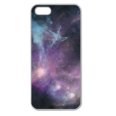 Blue Galaxy  Apple Seamless Iphone 5 Case (clear)
