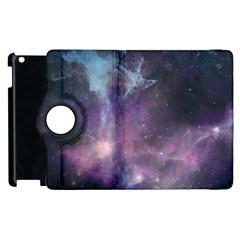 Blue Galaxy  Apple Ipad 2 Flip 360 Case by DanaeStudio