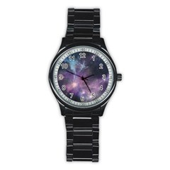 Blue Galaxy  Stainless Steel Round Watch by DanaeStudio
