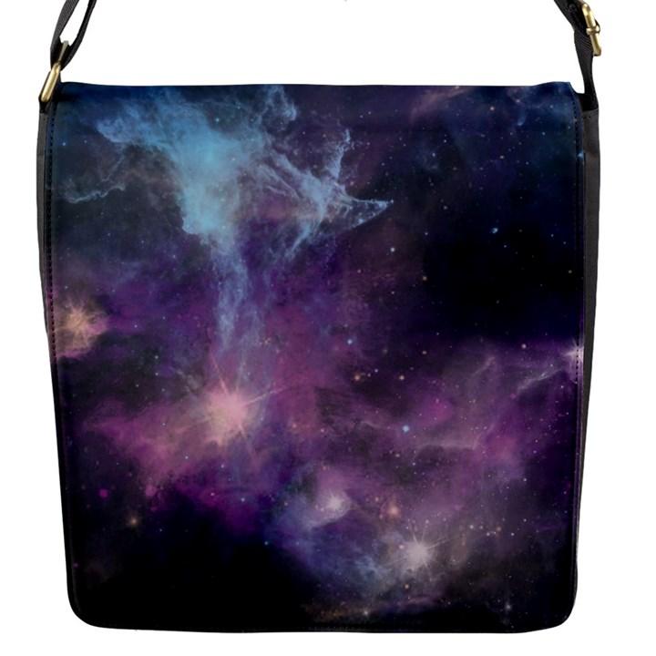 Blue Galaxy  Flap Messenger Bag (S)