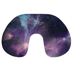 Blue Galaxy  Travel Neck Pillows by DanaeStudio