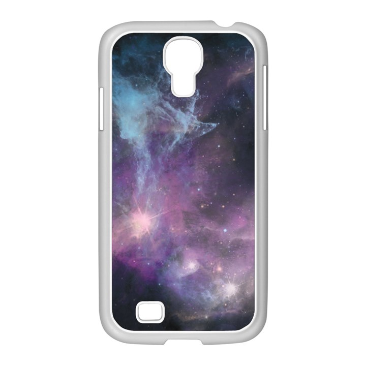 Blue Galaxy  Samsung GALAXY S4 I9500/ I9505 Case (White)